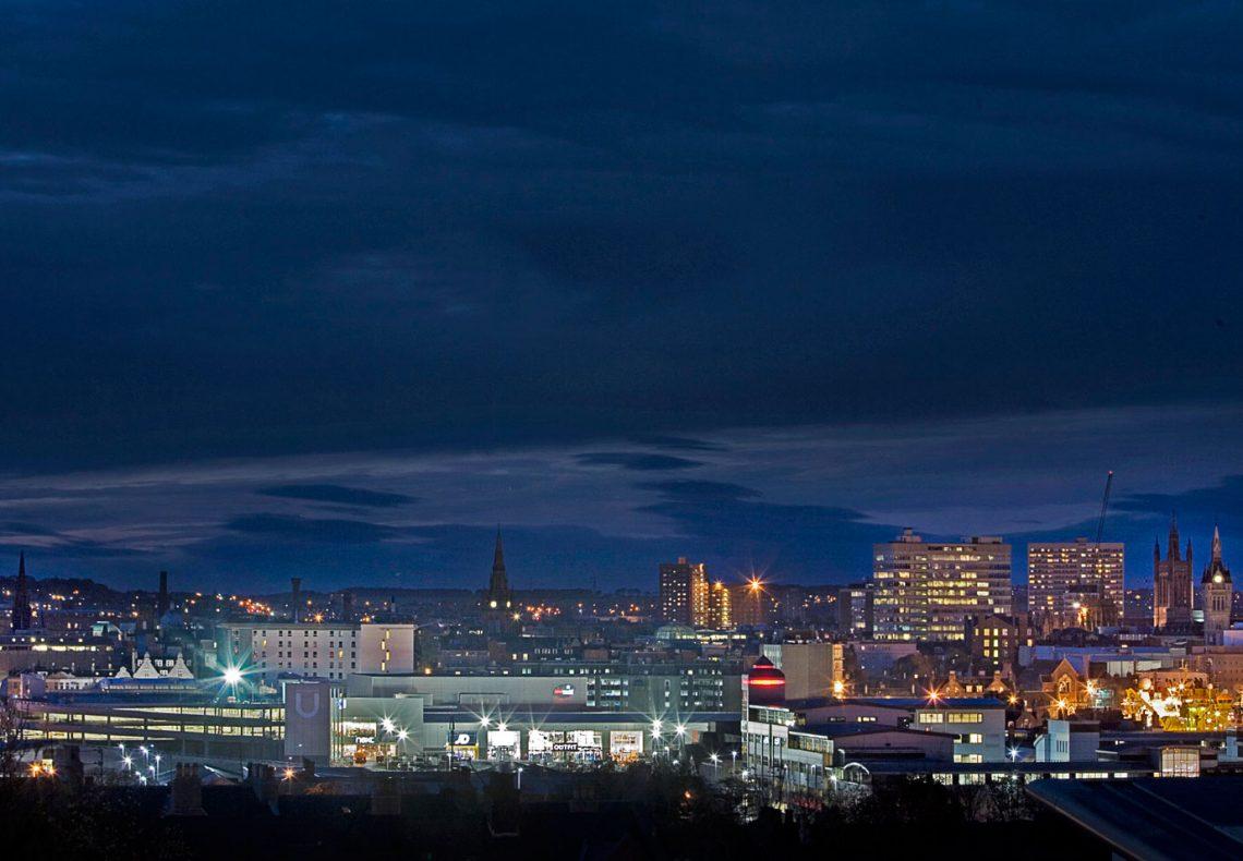Aberdeen City at Night, Aberdeen